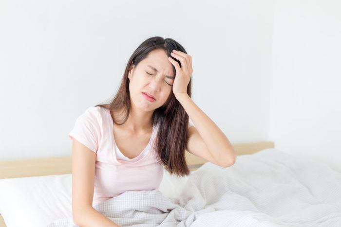 левая головная боль